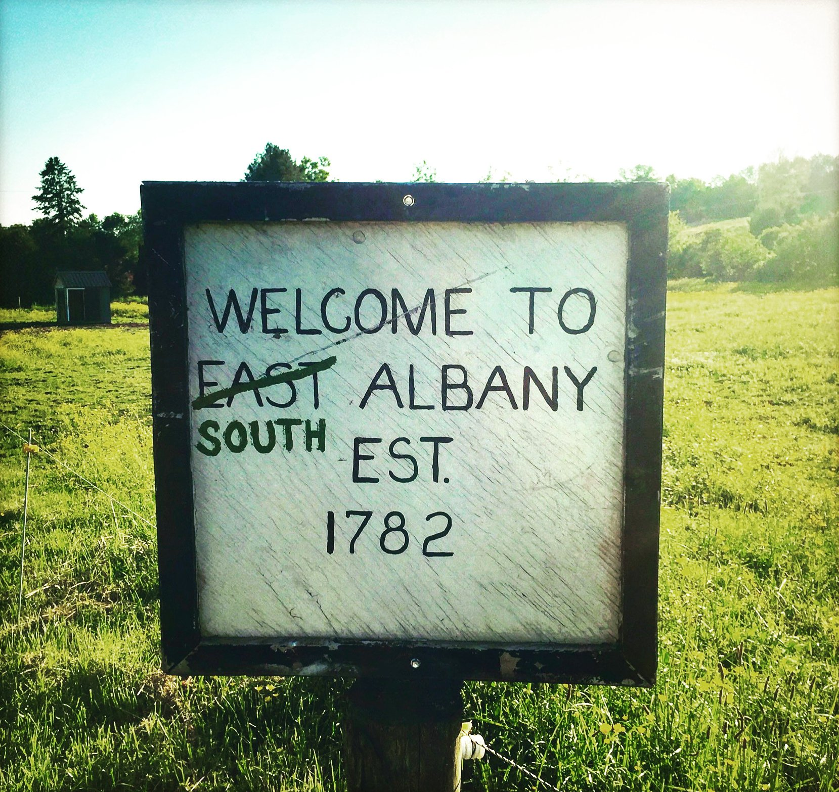 The Official South Albany Town Sign
