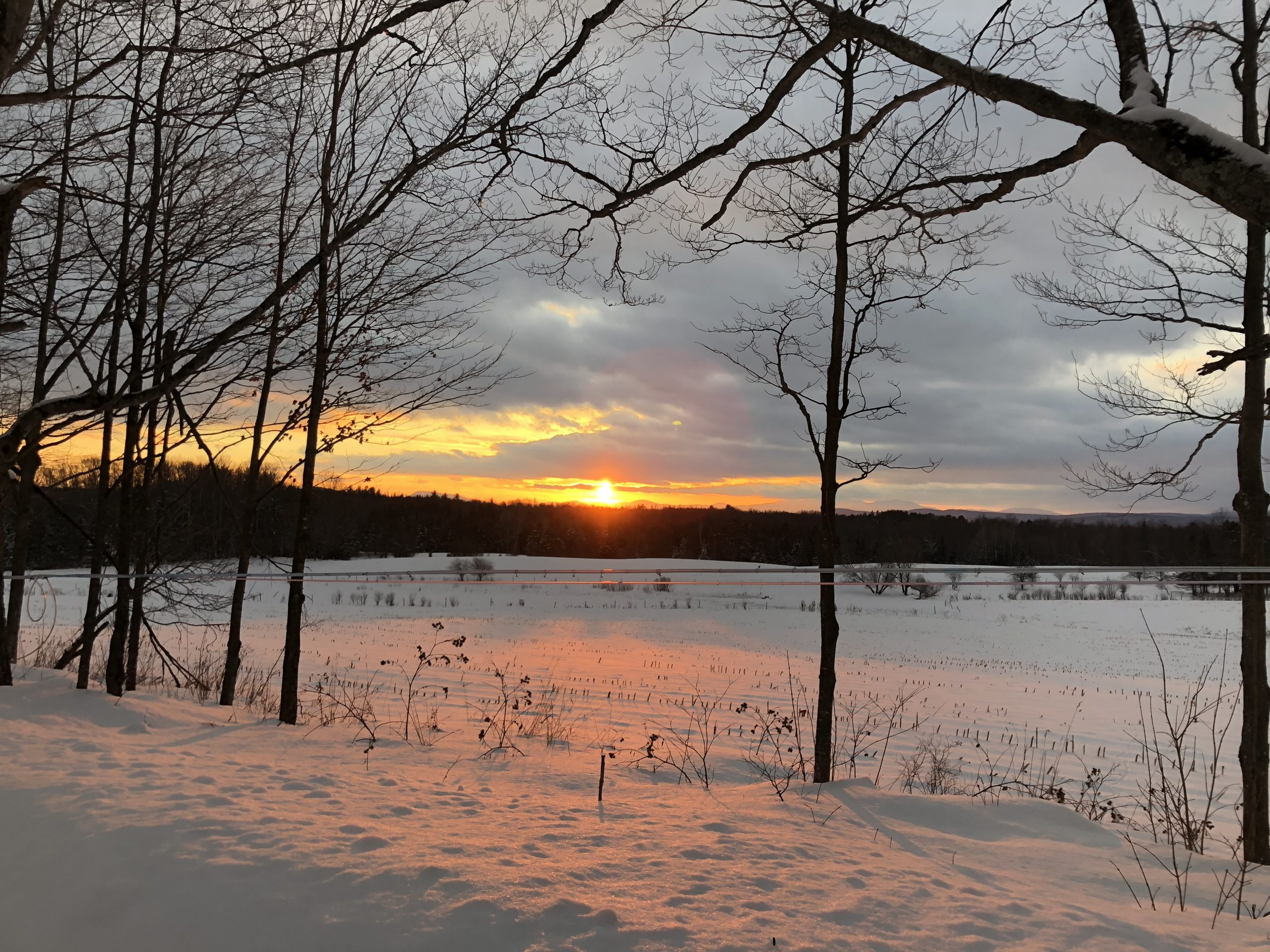 A beautiful Sunset in the Northeast Kingdom of Vermont